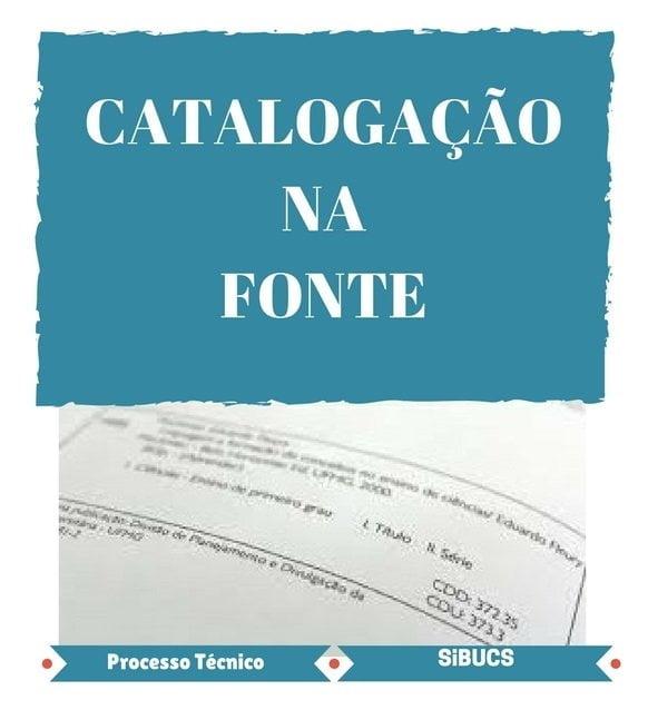 Catalogação na fonte e ficha catalográfica